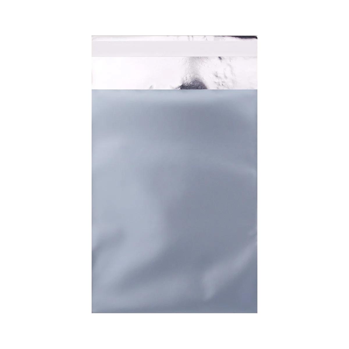 Mattfolierad påse Isblå