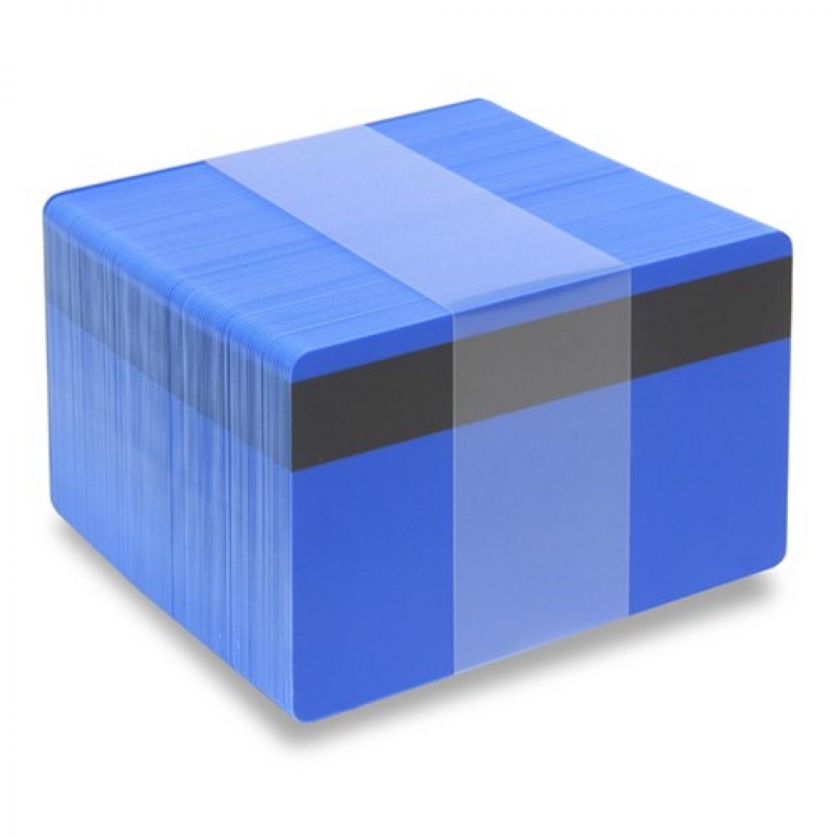 Blå plastkort - Magnetremsa