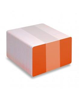 Orange plastkort