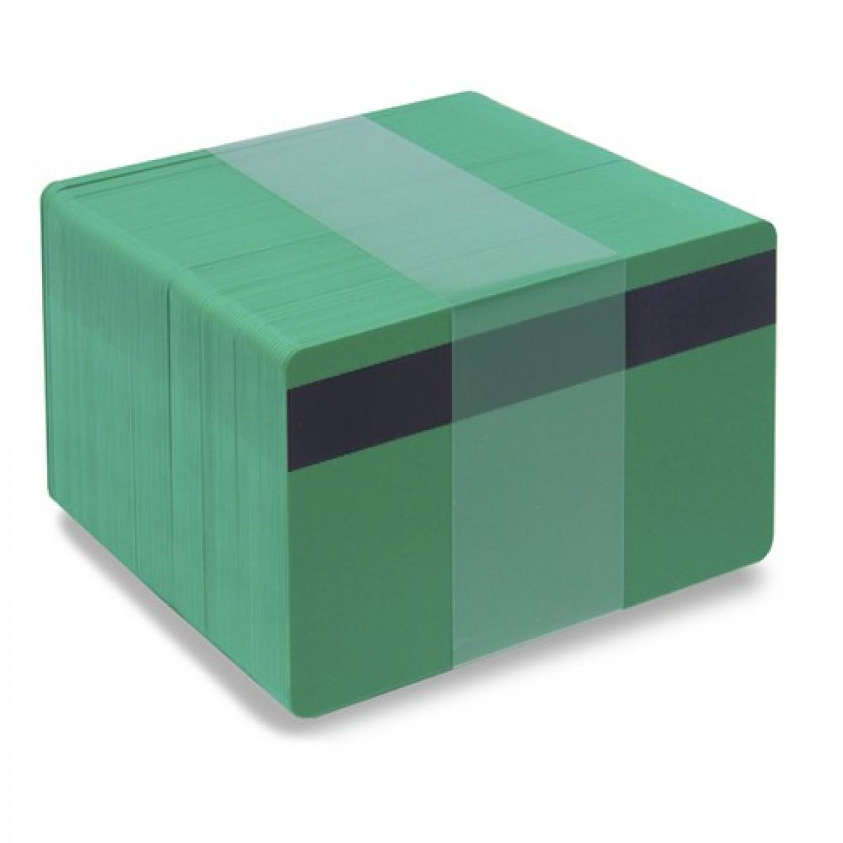 Gröna plastkort - Magnetremsa