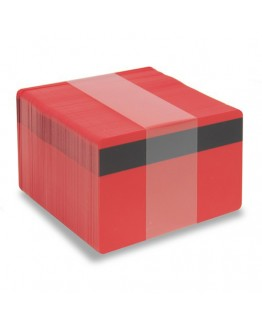 Röda plastkort - Magnetremsa