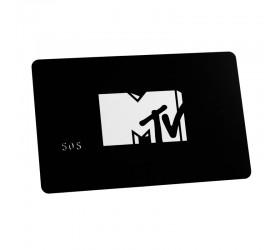 Plastkort MTV - Matt yta