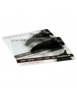 Transparenta plastkort