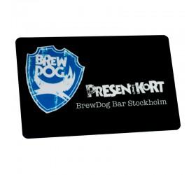 Plastkort BrewDog - Presentkort