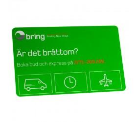 Plastkort Bring - Infokort