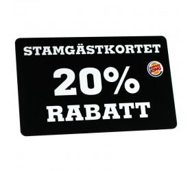Plastkort Burger King - Rabattkort