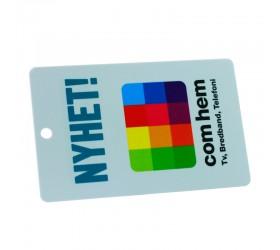 Plastkort ComHem - Med hål