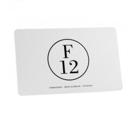 Plastkort F12 - Vit/Svart