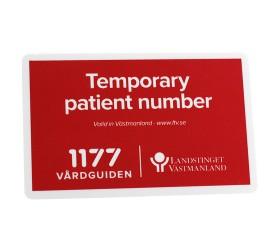 Plastkort Vårdguiden 1177 - Infokort