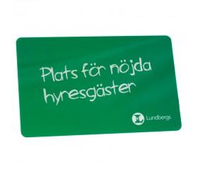 Plastkort Lundbergs - Bank yta