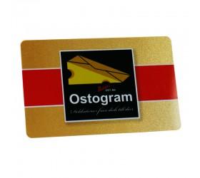 Plastkort Ostrogram - Guldmetallic