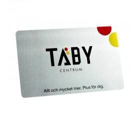 Plastkort Täby - Silvermetallic