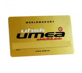 Plastkort Umeå Skidklubb - Guldmetallic