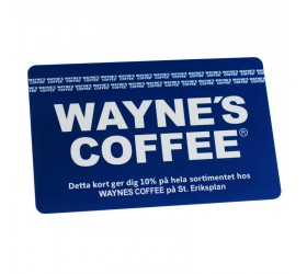 Plastkort Wayne´s Coffee - Rabattkort